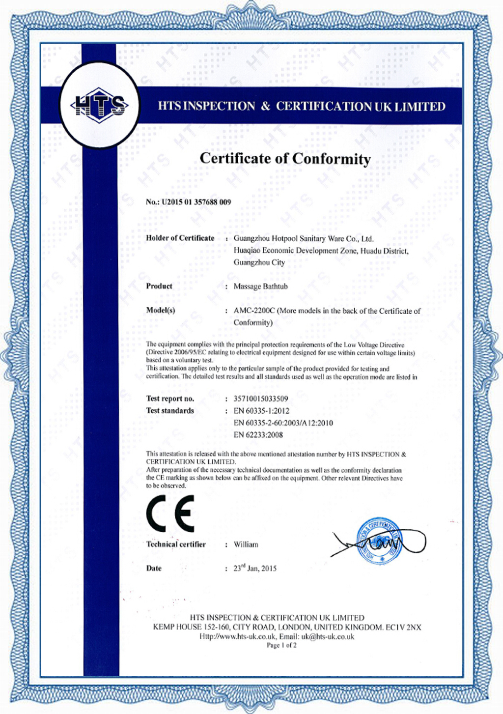 Certification in 2012 all hot tubs achieved saa certificate for australian market in 2010 control system achieved ccc approval xflitez Image collections